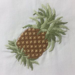 6 hand sewn 100% cotton pineapple 🍍coasters